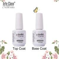 15ml No limpiar la capa superior capa Base de imprimación de uñas de Gel polaco barniz de Gel para remojo LED UV para uñas de Gel laca de larga duración