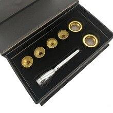 цена на Brass Instruments Professional Trumpet Mouthpiece 4 Headpieces Gold-plated No.7 3C / 3B / 2C / 2B Baja Mouthpiece Set Trumpet