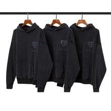 100% algodão masculino hoodies moletom com capuz retro q03319