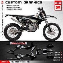 KUNGFU GRAPHICS Custom Sticker Vinyl Wrap Kit MX for 125 150 250 300 350 450 500 EXC F EXC F XCW XC W 2017 2018 2019 Black