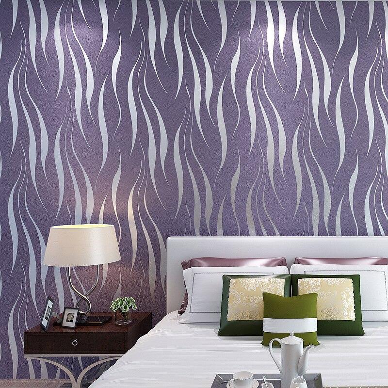 3D Aquatic Plants Leaf Wallpaper Bedroom Nonwoven Fabric Flocked Modern Minimalist Living Room Television Background Wall Wallpa