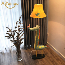 Creative Floor Stand Lamp Decoration Fabric Handmade Animal Crocodile Children Floor light For Living room Bedroom Lamp