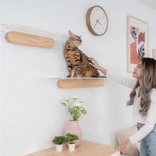 Transparente grande parede-montado de madeira maciça gato escalada quadro gato arranhando placa de brinquedo gato maca gato torre combinação plataforma