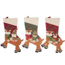 Christmas Ornaments Stocking Candy Socks Holders Treat Bag Goodie Table Decorations Xmas Hanging Tree