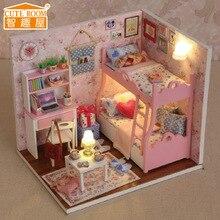 DIY игрушка мини-дом модель ночники кукла рождественский подарок на день рождения собрать модель здания мальчик девочка домашний офис украшения