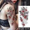 Tatouage temporaire femme Fake Tatoo Sleeve For Woman Transfer Stickers Totem Glitter Lettering Arabic Rose Hummingbird Shoulder