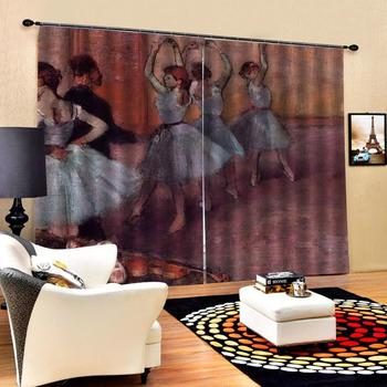 Europe angel curtains photo Blackout Window Drapes Luxury 3D Curtains For Living room