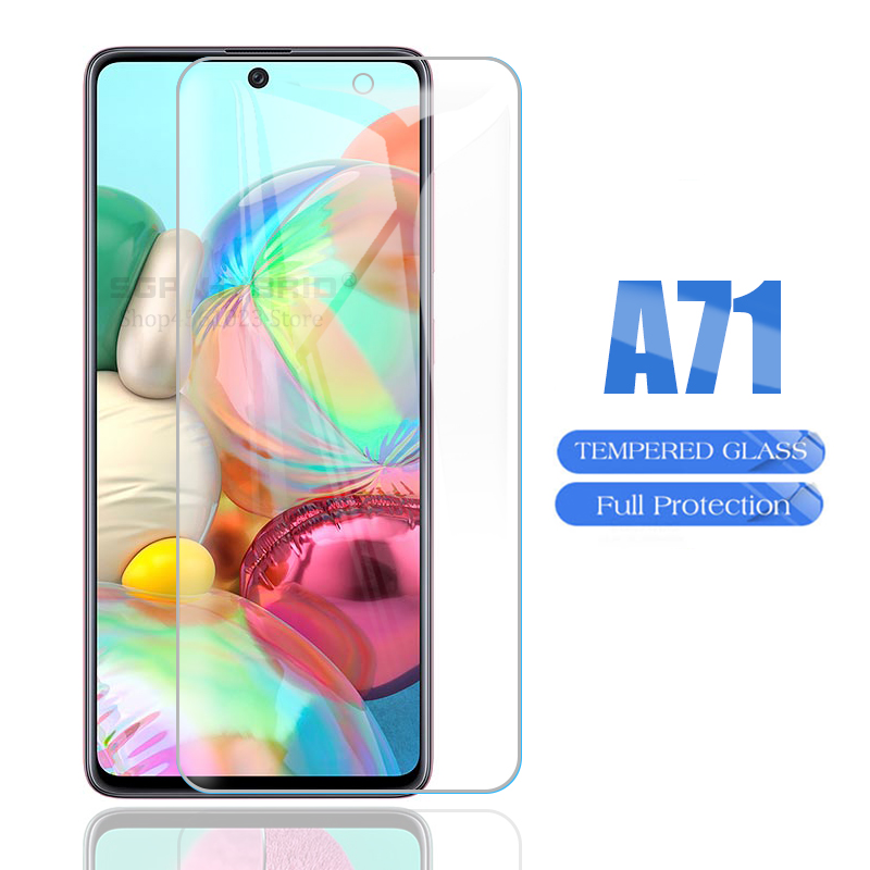 For Samsung Galaxy A71 A 71 SM-A715F Screen Protector Tempered Glass on For Samsumg Sumsung Galaxy A51 A 51 HD Protective Glass