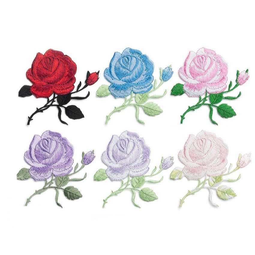 1 قطعة حساسة الورد التطريز الحديد على خياطة على بقع للملابس زين Hat بها بنفسك قبعة معطف سروال فستان اكسسوارات القماش ملصق
