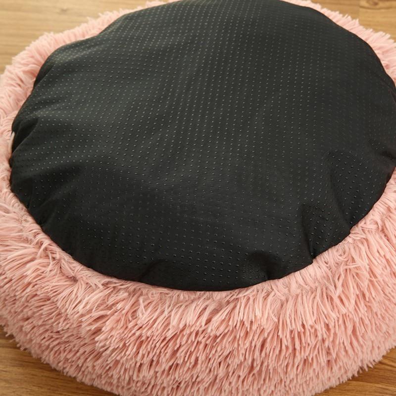 Pet Bed Super Soft Kennel Dog Round Cat Winter Warm Sleeping Mat Long Plush Puppy Cushion Mat Portable Pet House Cat Supplies 5