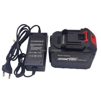 compatiable 18V 6000mAh 6.0 Ah battery pack 6.0Ah battery with a charger for rechargeable cordless tool eleoption with charger 18v 5000mah li ion rechargeable battery for ryobi 18v battery and charger p108 p310 for one biw180