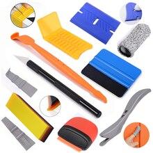 FOSHIO Vinyl Car Window Wrap Application Tool Kit Decal Stickers Film Cutting Aid Scraper Magnet Auto Tint Styling Accessories