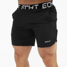 Calções masculinos verão preto moda casual fitness compressão ginásio hombre musculação jogger roupas de treinamento meia calças suor