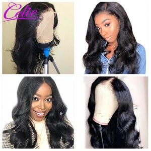 Image 4 - Celie Haar HD Transparent Spitze Perücke 180 250 Dichte Spitze Front Menschliches Haar Perücken Körper Welle Perücke Für Schwarze Frauen menschliches Haar Perücken