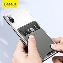 Baseus uniwersalny telefon z powrotem portfel etui na karty etui na iPhone 11Pro X XS Max XR etui luksusowe 3M naklejki silikonowe etui na telefon