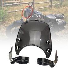 Para harley sportster xl 883 1200 modelos 2004 2005 2006 2007 2008 2019 motocicleta pára brisas para 39mm 41mm garfos