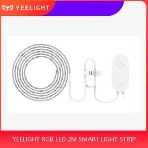 Xiaomi Yee светильник RGB светодиодный 2 м умный светильник полоса умный дом для приложения WiFi работает с Alexa Google Home Assistant 16 миллионов красочных
