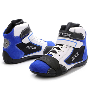 Image 4 - ARCX Motorcycle Boots Men Motorcycle Shoes Moto Riding Boots Breathable Four Seasons Motorbike Ankle Shoes Blue Motocross Boot #