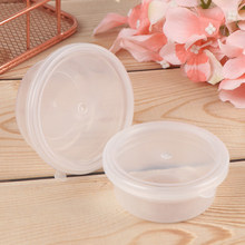 15g/20g Slime Box Plastic Transparent Slime Containers Storage Organizer Box With Lids For Fluffy Clear Slime Mud 10PCS(China)