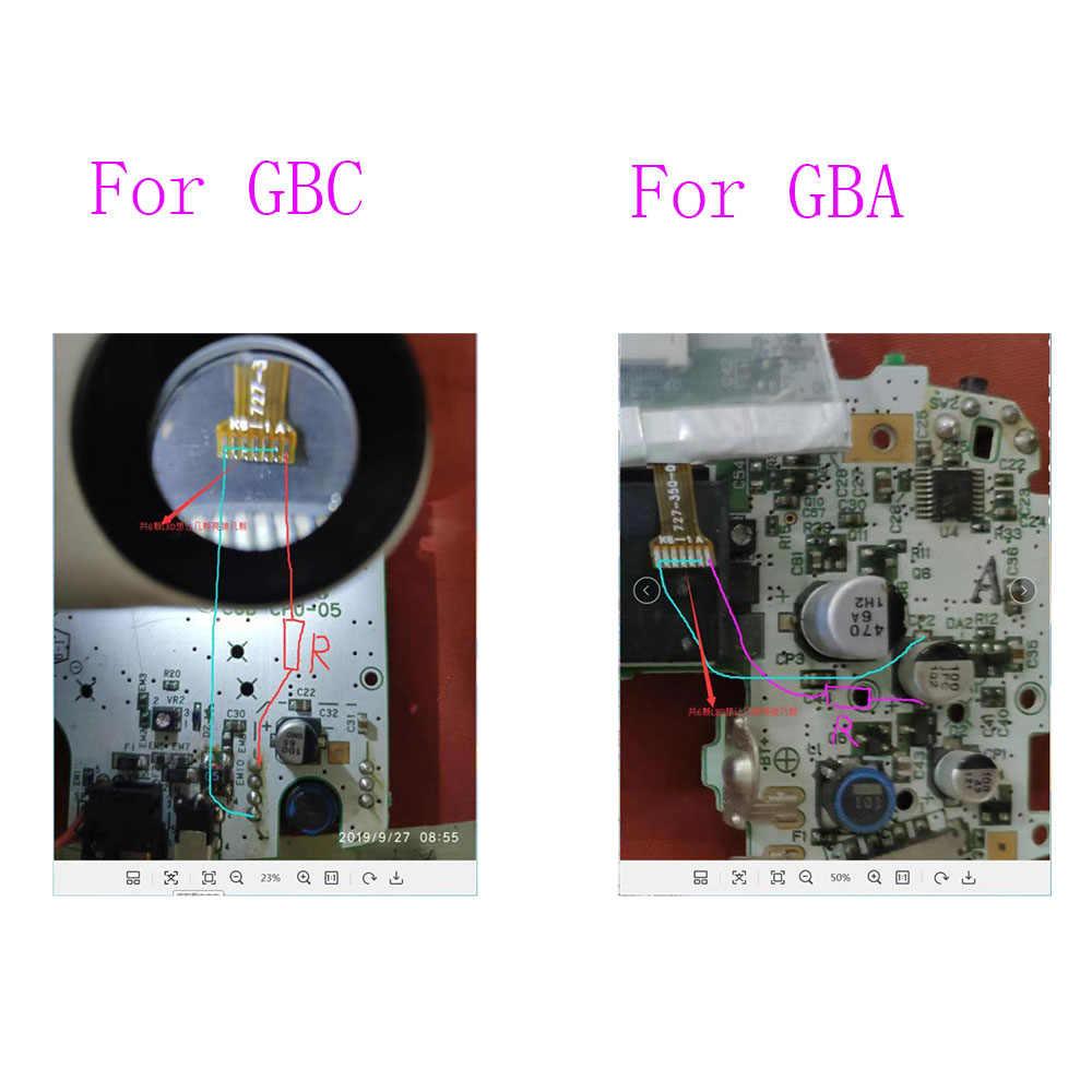 Para juego de Nintendo para chico de Color GBC Frontlight frontal, Kit de módulo de luz frontal para Gameboy Advance GBA