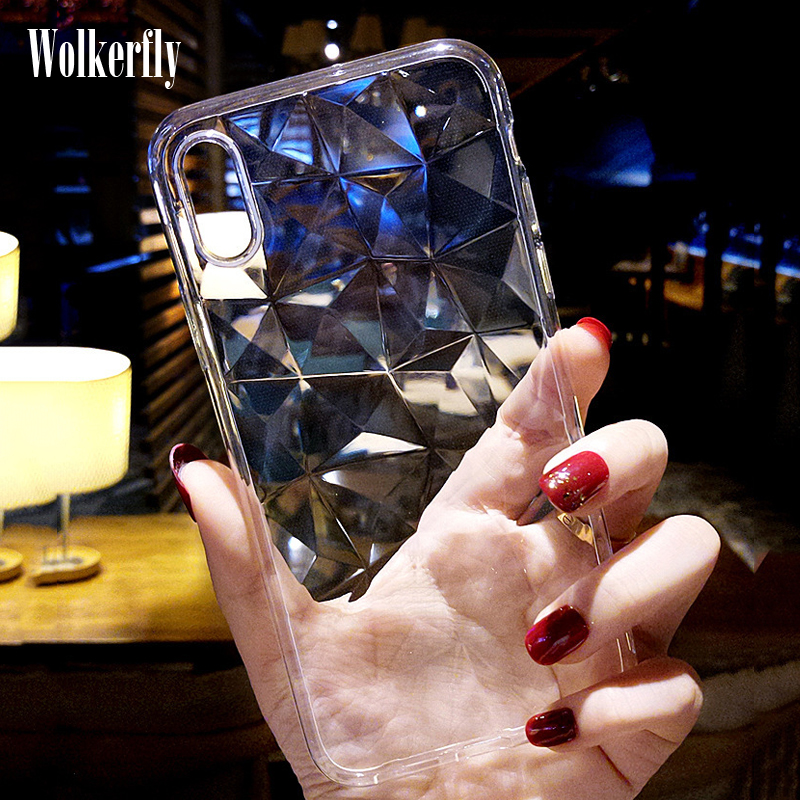 Silicone Diamond Case For <font><b>Xiaomi</b></font> <font><b>Mi</b></font> <font><b>A3</b></font> A2 A1 8 Lite 9 SE CC9 9T Mi9T Case On Redmi K20 Pro Note 7 5 6 6A Redmi 7A Case 3D <font><b>Cover</b></font> image