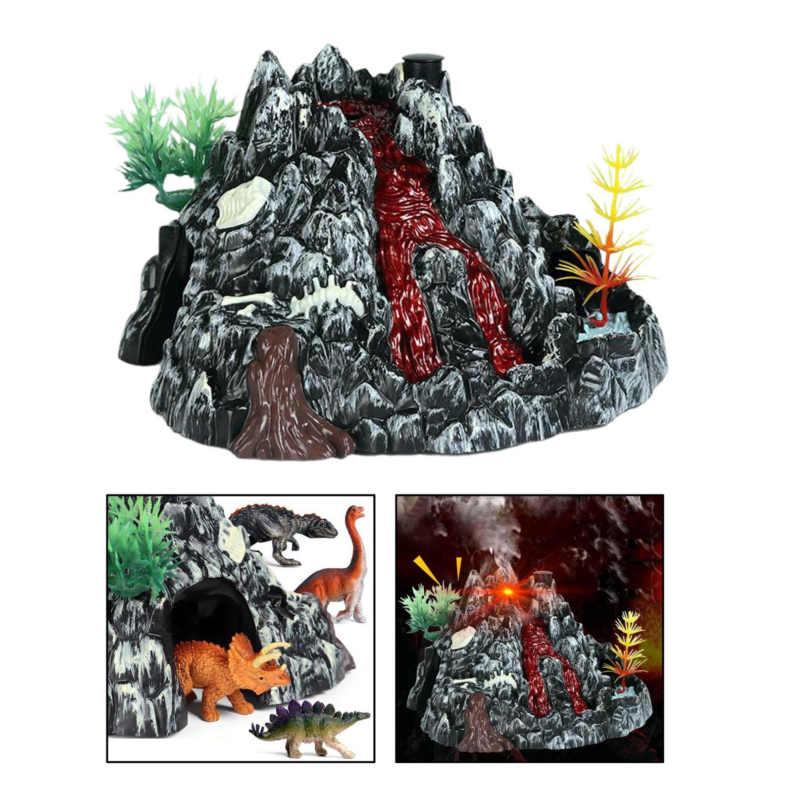 Simulation Volcano Modell Spray Licht Dinosaurier Sound Modell Spielzeug Zubehör Wissenschaft Natur Spielzeug