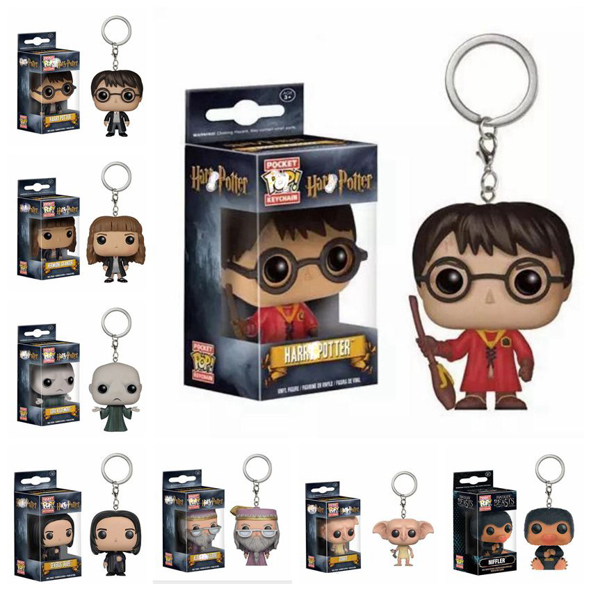 Harri Potter Dobby/Hermione Granger/LORD VOLDEMORT/Severus Snape  DUMBLEDORE Keychain Action Figures Doll Toys For Children