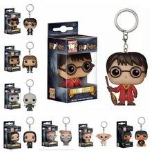 Harry potter Dobby/Hermione Granger/LORD VOLDEMORT/Severus snape DUMBLEDORE llavero figuras de acción, muñecos juguetes para niños