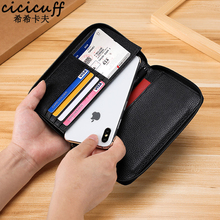 Passport Holder Wallet Zipper Surround Genuine Leather Credit Card Cover for Passport Bag Travel Documents Protector Case Unisex