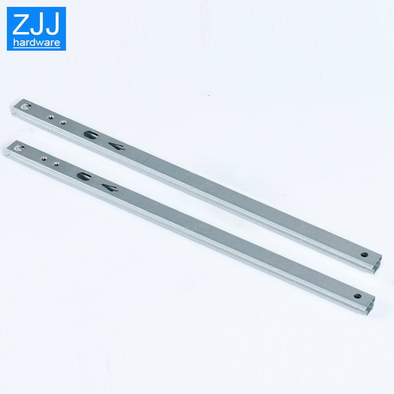 Image 3 - Mini Two way sliding Drawer slides Ball Guide Two Sections 17mm Wide Steel Fold Drawer Steel Ball Slide Rail Furniture Hardware-in Slides from Home Improvement