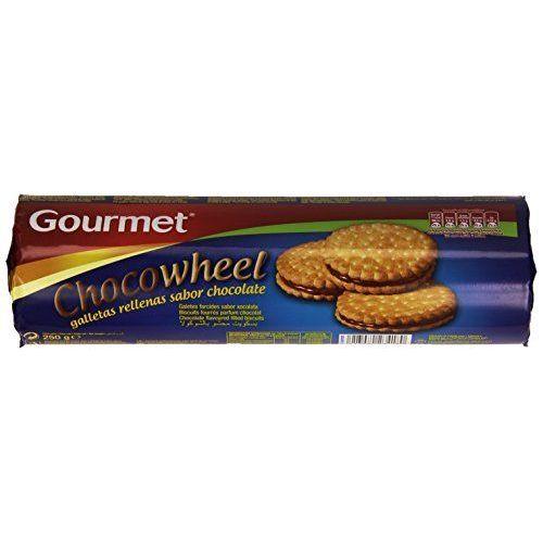 Gourmet - Chocowheel - Galletas Rellenas Sabor Chocolate - 250 G