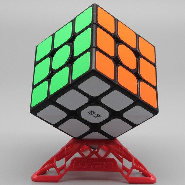 Qiyi QiHang Sail W 3x3 Puzzle Speed Magic Cube Toys For Kids Intelligence Education 3x3x3 Cubo Magico Toys Black White Sticker 1