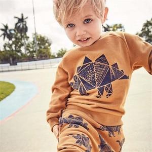 Image 2 - Salto metri Vestiti Per Bambino Set Autunno Inverno Ragazzo Set Vestiti di Sport Per I Ragazzi della Camicia del Maglione Pantaloni 2 Pezzi Set di Bambini