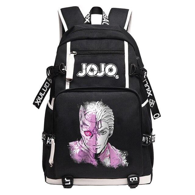 JoJo's Bizarre Adventure Kujo Jotaro Anime Bookbag Waterproof School Bags USB Charging Laptop Backpack Unisex Travel Bagpack 2