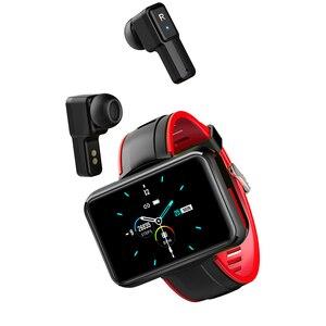 LEMFO-reloj inteligente T91 TWS Auriculares inalámbricos con Bluetooth para hombre, deportivo con pantalla grande de 2020 pulgadas, Bluetooth y llamadas