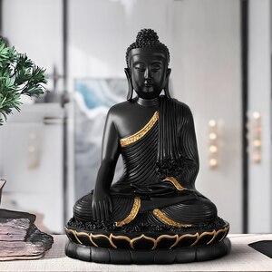 Image 5 - Reçine heykelciği bouddha büyük buda dekor ev dekor buda heykeli ev dekorasyon aksesuarları oturma odası için buda heykelcik