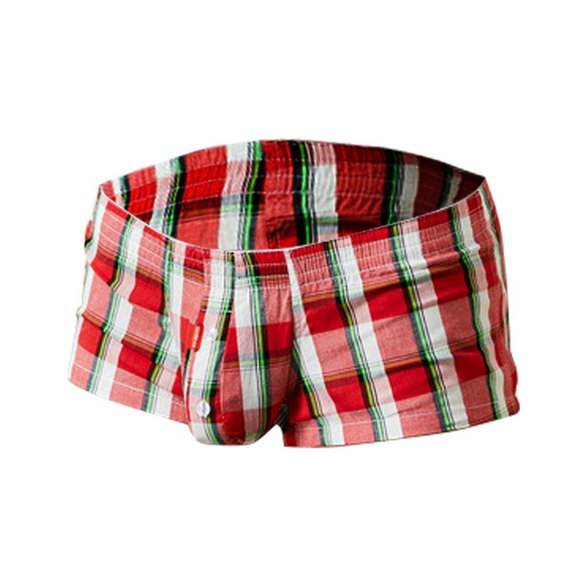 Classic Sexy Plaid Men Boxer Shorts Mens Underwear U Convex Pouch Panties Underpants Boxers For Male Homme Panties Underwear Men