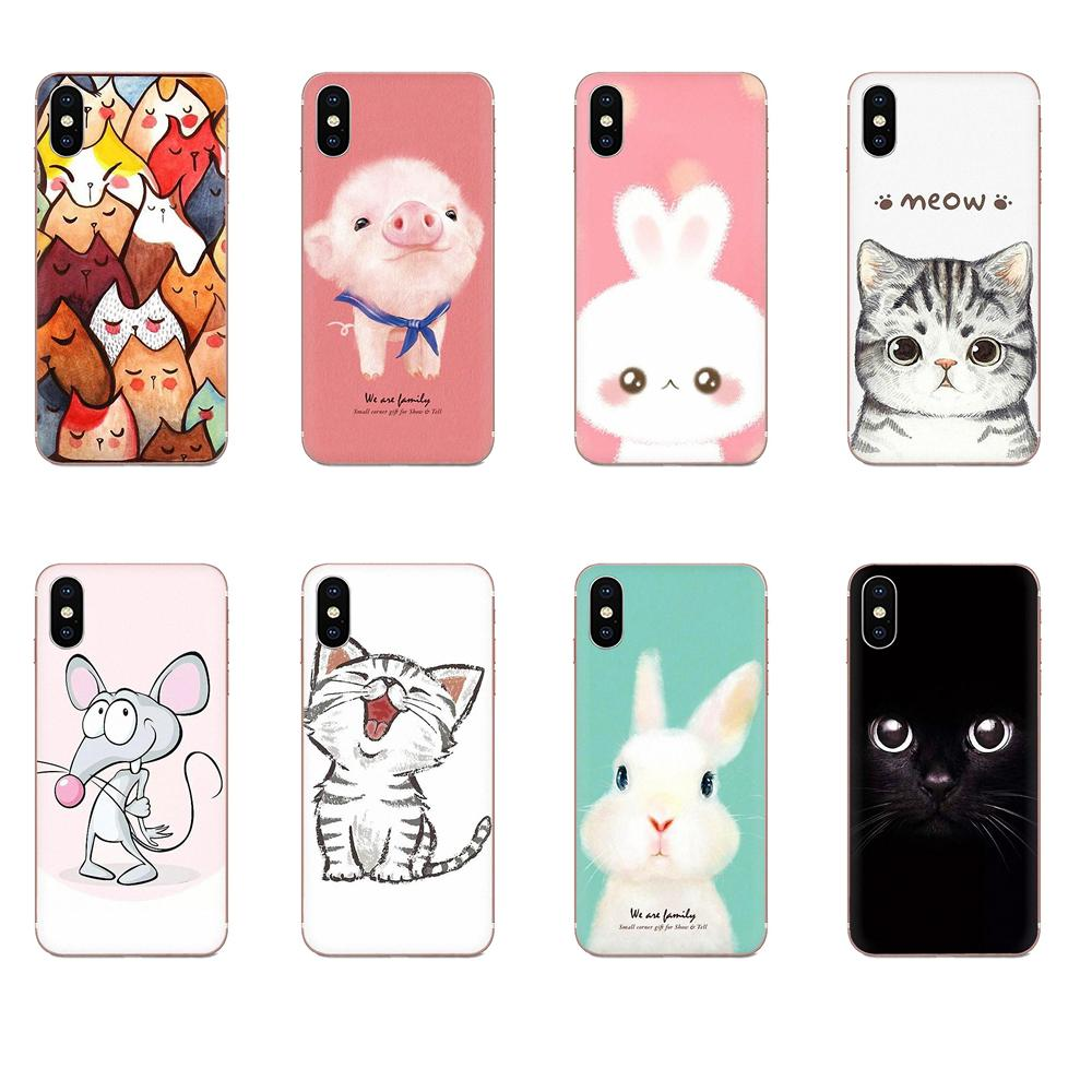 Cute Mouse Pig Cats Dog For <font><b>Sony</b></font> <font><b>Xperia</b></font> Z Z1 Z2 Z3 Z4 Z5 compact Mini M2 M4 M5 T3 E3 E5 XA <font><b>XA1</b></font> XZ Premium Soft TPU <font><b>Case</b></font> Cover image