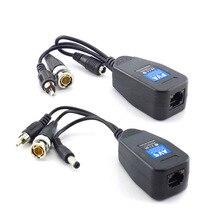 1 Pairs Passive Power Video Balun BNC Maschio Connettori di Alimentazione del Convertitore di Alimentazione Passivo Transceiver CCTV Macchina Fotografica di HD DVR 3 in 1