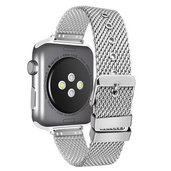 38MM 42MM Fashion Stainless Steel Mesh Watchband for Apple Watch  1 to 4 Silver Watch Strap Pin Buckle Bracelet Replacement умные часы huawei watch steel mesh mesh серебряная сталь 42mm