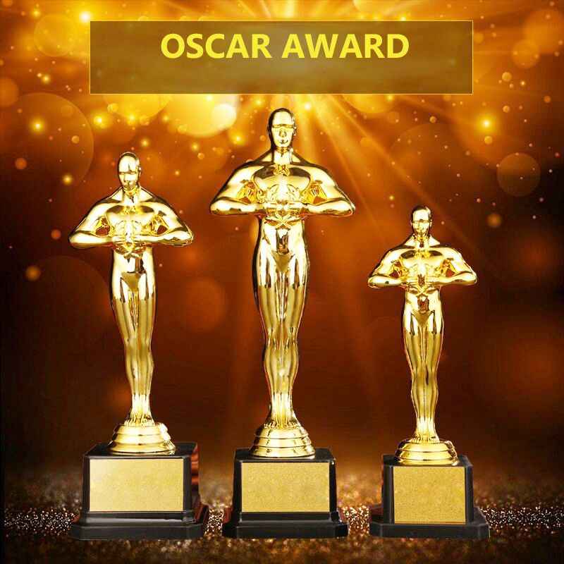 Customized Oscar Statuette Awards Replica Trophies PC Gold Plated Craft Souvenirs Oscar Trophy Award For Party Celebrations Gift