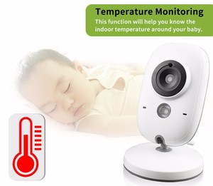 Image 2 - Wireless Video Color Baby Monitor 3.2 inch High Resolution Baby Nanny Home Security Camera Night Vision Temperature Monitoring