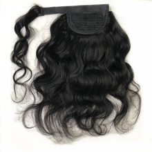 Hair-Extensions Ponytail Human-Hair Brazilian Halo Around for African Lady Body-Wave