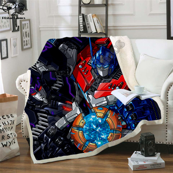 Kid Autobots transformation robot 3d Blanket Design Flannel Fleece Blanket Printed Children Warm Bed Throw Blanket Kids Blanket фото