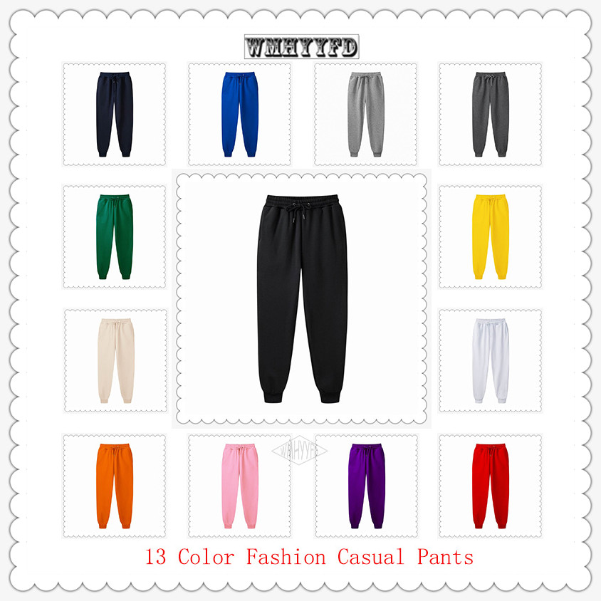 2020 New Men Jogger Wmhyyfd Brand Male Trousers Casual Pants Sweatpants Jogger 13 Colors Casual Pants Fitness Workout Sweatpants