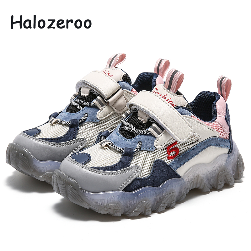 Spring Kids Sport Sneakers Baby Girls Casual Sneakers Children Genuine Leather Sneakers Boys White Brand Shoes Trainers 2020 New
