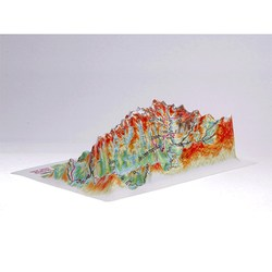 3D map of GREAT SMOKES MOUNTAINS Map with panorama effect Embossed Decorative Fridge Art Magnet Tourism Souvenir Home National Park Travel Testplay