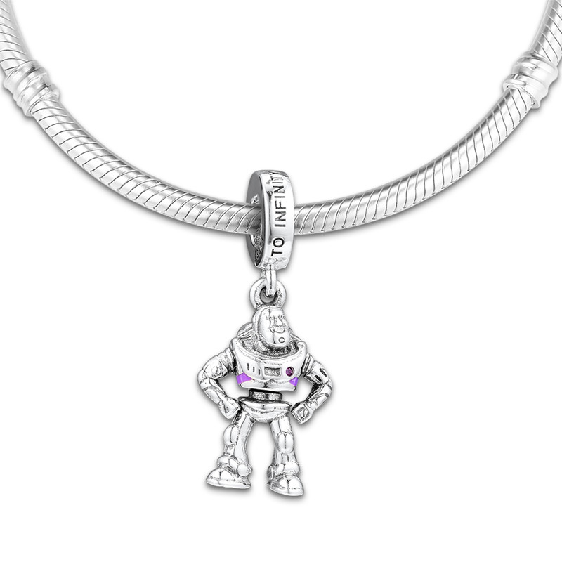 Original 925 Sterling Silver Bead BUZZ LIGHTYEAR Charm Beads Fit Pandora Bracelet Bangle for Women DIY Europe Jewelry Kralen in Beads from Jewelry Accessories