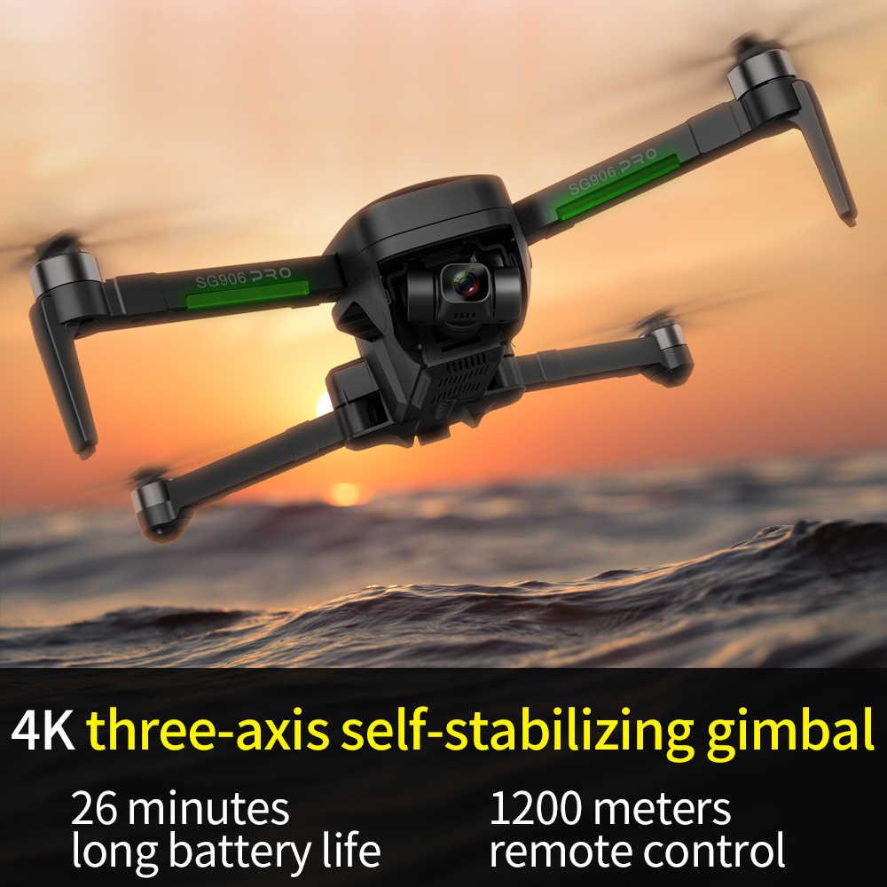 طائرة بدون طيار طراز ZLRC SG906 PRO 2 مزودة بنظام تحديد المواقع العالمي مع كاميرا جيمبال ذاتية الثبات ومضادة للاهتزاز ذات 3 محاور مزودة بخاصية الواي فاي وكاميرا FPV بدقة 4K بدون فرش طراز VS F11 PRO