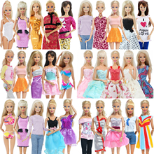 цена 5 Pcs / Lot Handmade Mini Dress Mixed Style Wedding Party Wear Skirt Lace Gown Clothes for Barbie Doll Accessories Toy Kids онлайн в 2017 году